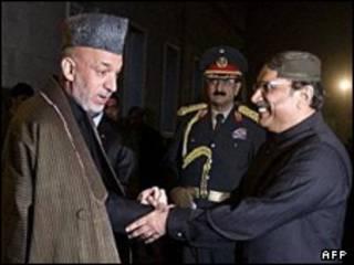 हामिद करज़ई और असिफ़ ज़रदारी
