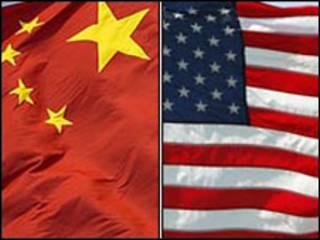 پرچم های چین و آمریکا