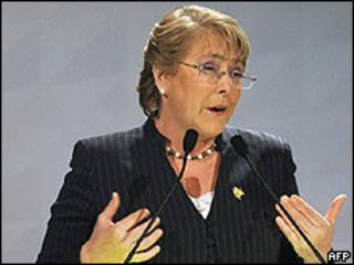 La presidenta chilena, Michelle Bachelet