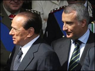 Presidente de Italia, Silvio Berlusconi, y el presidente de la región del Lazio, Piero Marrazzo, en foto de junio de 2007