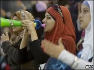 مشجعات فلسطينيات