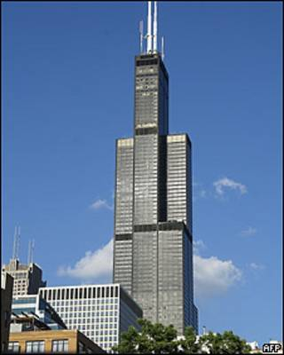 Willis Tower (ранее Sears Tower) в Чикаго