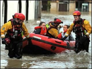 Спасатели в Камбрии