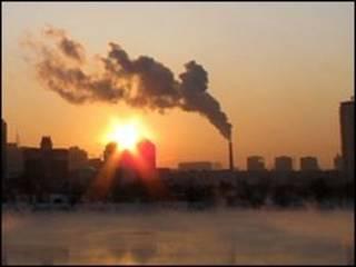 مدخنة مصنع في الصين