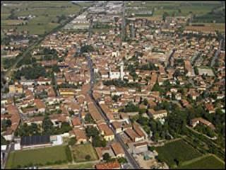 La población de Coccaglio (Cortesía www.comunedicoccaglio.it)