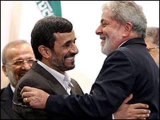 احمدي نجاد ولولا دا سيلفا