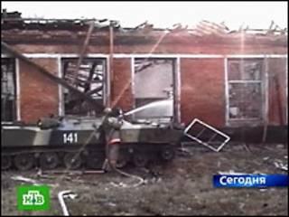 Разрушенное здание на военном складе в Ульяновске