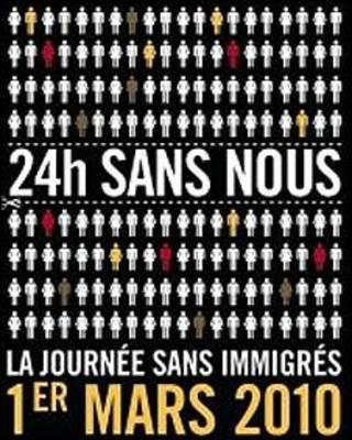Afiche para el Día sin Inmigrantes