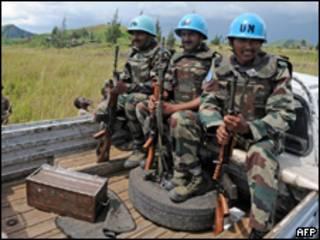 Soldados das forças da ONU na República Democrática do Congo (AFP)