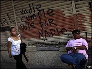 Calle de Tegucigalpa en los días previos a las elecciones