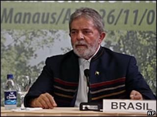 Lula da Silva en Cumbre de Manaos