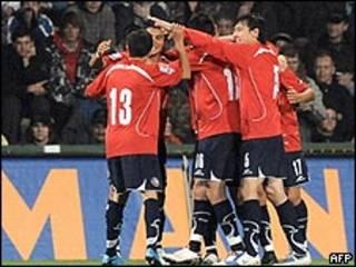 Selección de fútbol de Chile celebra la clasificación al Mundial
