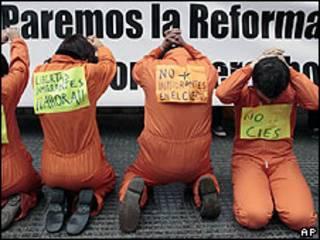 Protesta por Ley de Extranjería.