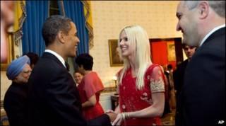 میشل و طارق صلاحی و باراک اوباما