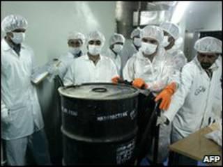 Científicos nucleares iraníes.