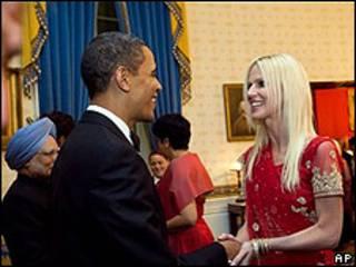 Barack Obama y Michaele Salahi