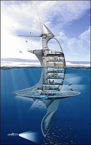 Projeto do SeaOrbiter (Foto: Jacques Rougerie Architect/Divulgação)