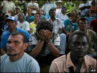 Garimpeiros expulsos da Venezuela. Foto AP