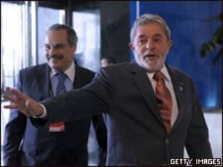 O presidente Luiz Inácio Lula da Silva em Portugal