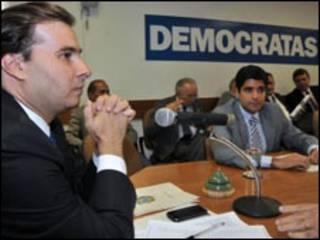 O líder do Democratas, Ronaldo Caiado, durante reunião do DEM. Foto José Cruz/ABr