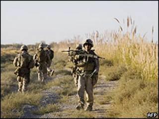 Soldados americanos na província de Helmand