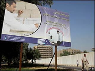 Cartel en Irak animando a las elecciones