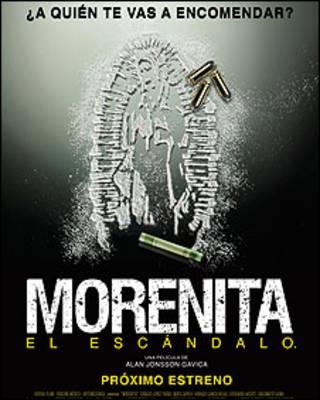 """Afiche promocional de la película  """"Morenita, el escándalo"""""""
