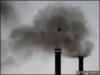 Emissões de gases em Calcutá, na Índia
