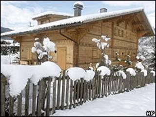 Residencia del director Roman Polanski en la ciudad de Gstaad, en Suiza