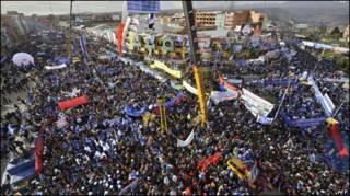 Comício de Evo Morales
