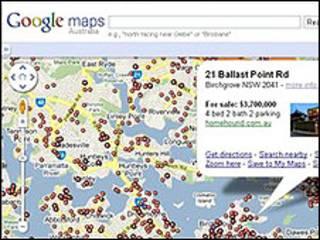 موقع خدمة الخرائط في جوجل