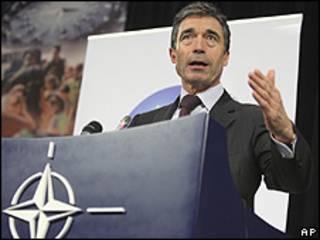 O secretário-geral da Organização do Tratado do Atlântico-Norte (Otan), Anders Fogh Rasmussen