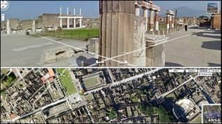 Карта Помпей на сайте Google