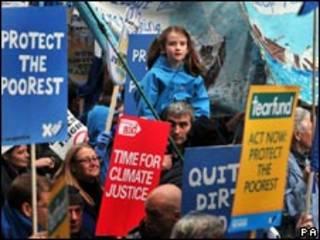 Manifestación sobre el cambio climático en Londres