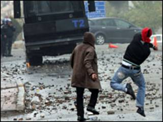 مظاهرات كردية في تركيا