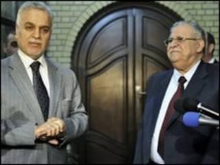 طالبانی و هاشمی، رئیس جمهور و معاون او