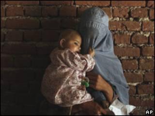 Mujer en Afganistán. Foto de archivo