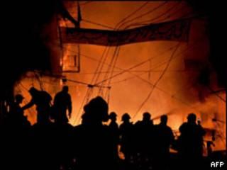 Escena del ataque en Lahore