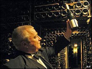 Botelllas antiguas de vino