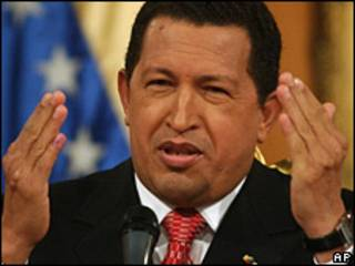 O presidente da Venezuela, Hugo Chávez (foto de arquivo)