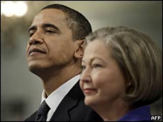Барак Обама и член Нобелевского комитета