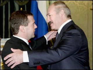 президенти Росії і Білорусі