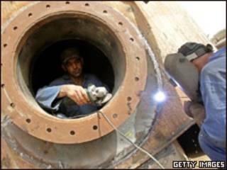 عکس از تجهیزات نفتی عراق