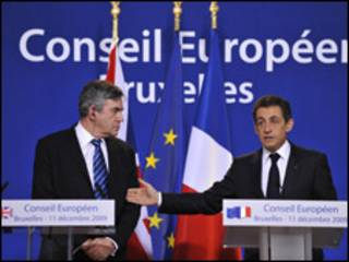 Gordon Brown, Nicolas Sarkozy