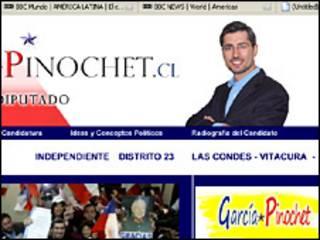 Página de Internet de Rodrigo Garcia Pinochet