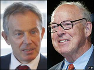 Tony Blair y Hans Blix