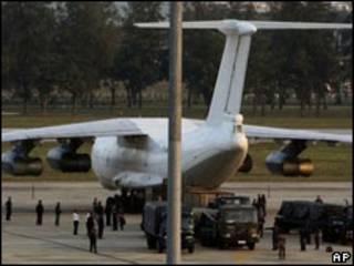 Chiếc phi cơ chở vũ khí từ Bắc Hàn