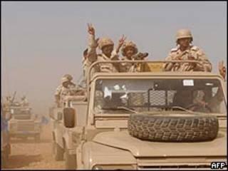 قوات سعودية قرب حدود اليمن