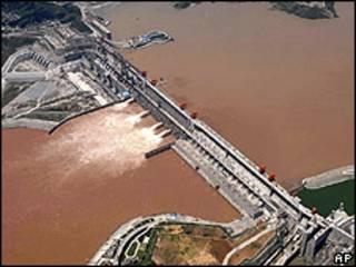Represa de las Tres Gargantas en China
