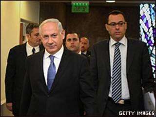 Benjamín Netanyahu y su gabinete
